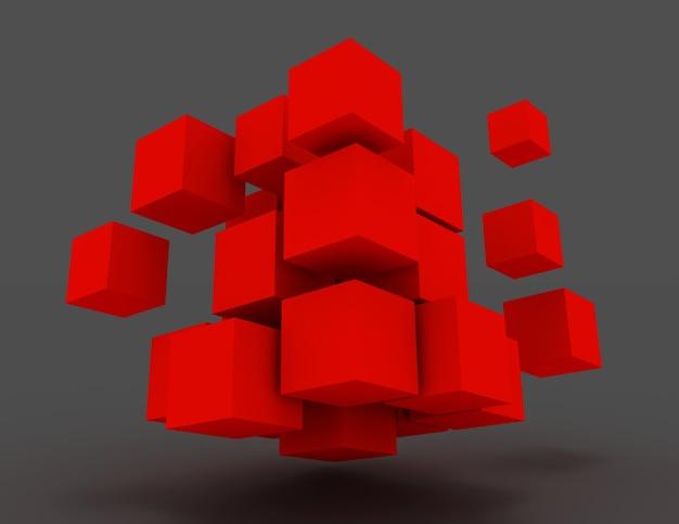 3d абстрактные кубики. бизнес-концепция