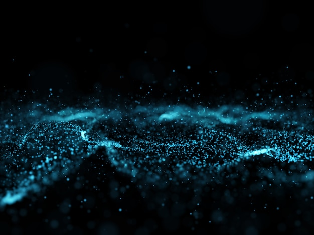 3d abstract flowing particle background