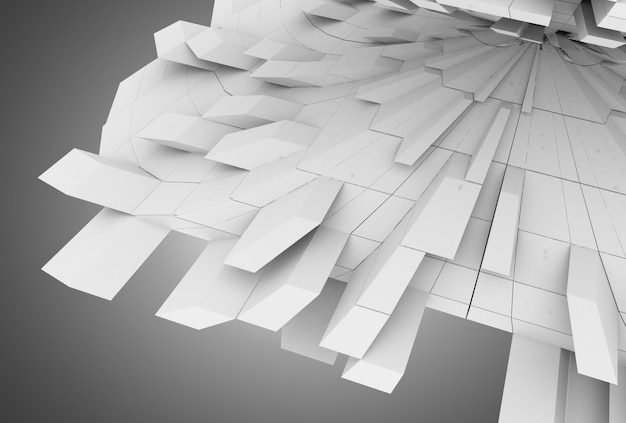 3d abstract geometric background with cubes. 3d illustration