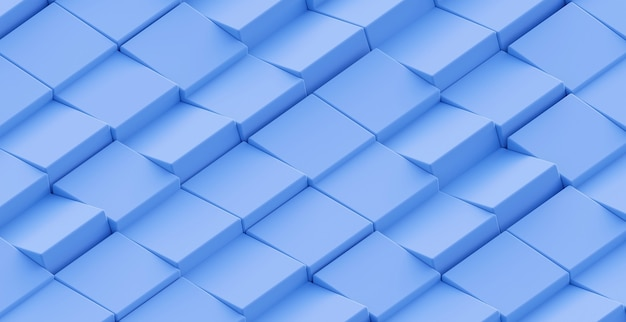 3d abstract geometric sky blue background. a bright contemporary minimalistic backdrop with a voluminous blue texture. a futuristic surface with a mosaic of cubes.