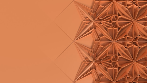 3d abstract geometrical kaleidoscope transformation. fractal distortion of surface. 3d render illustration