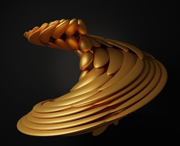 3d абстрактная золотая форма