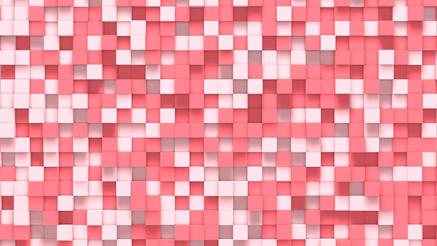 3d abstract light and dark pink and white cubes background