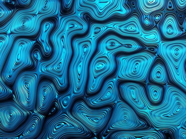 3d 추상 금속 파란색 배경