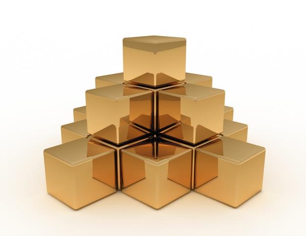 3d abstract pyramid concept