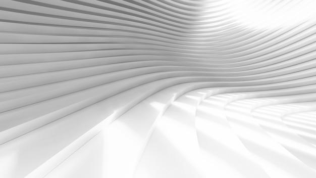 3d抽象的な白い湾曲した形の背景