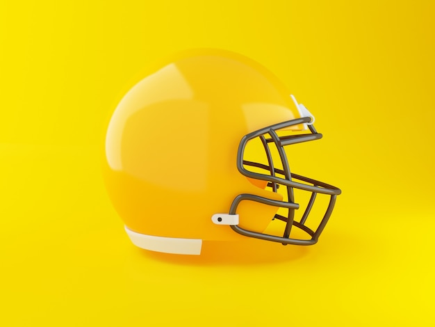 3d american football helmet. sport concept.
