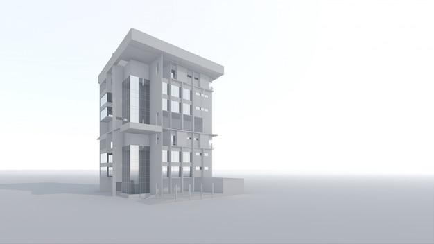 3d architectural home building