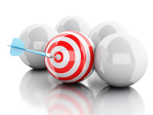 3d-стрелка в цель. бизнес и успех.
