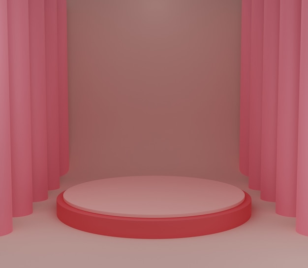 3d backgound illustration stage wallpaper product simple modern abstract pink