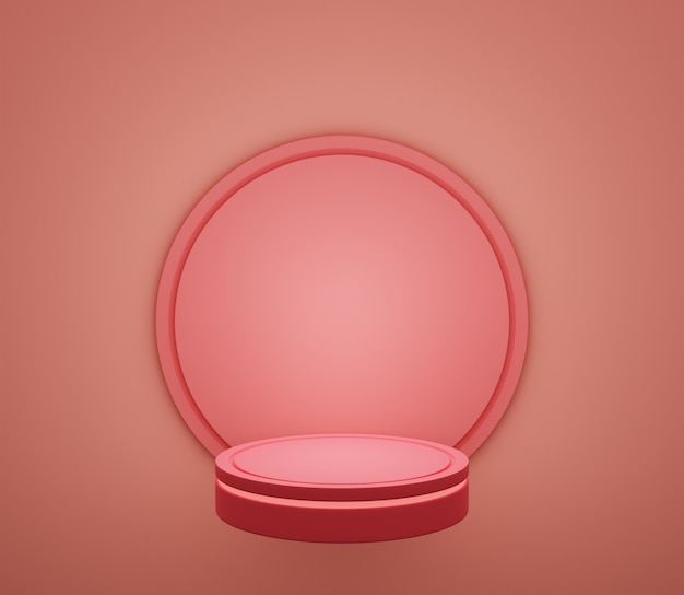 3d backgound illustration stage wallpaper product simple modern abstract warm pink pastel