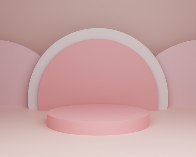 3d 배경 그림 간단한 현대 핑크 무대 추상