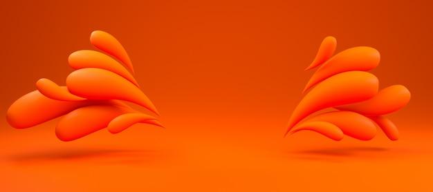 3d background rendering of colorful liquid black drops frame background