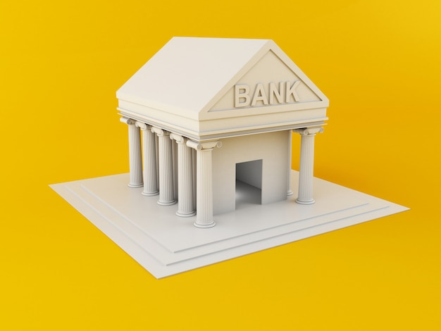 3d bank building