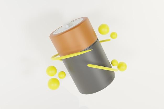 サークル付き3dバッテリーイラストデザイン