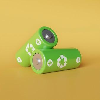Batteria 3d per il riciclaggio