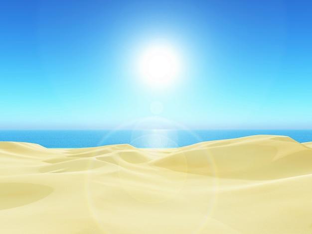 3d beach landscape