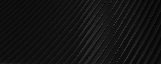 Трехмерное черное абстрактное фоновое изображение с диагональными полосами для текста или фона веб-сайта