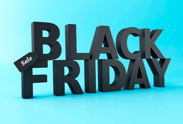 3d black friday sale concept.