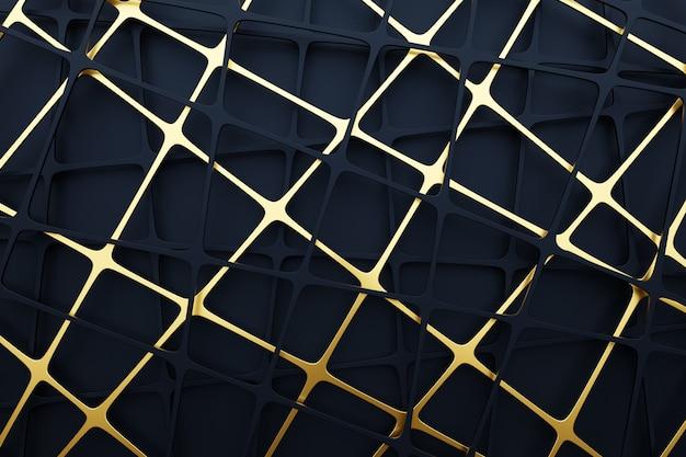3d 검은 금속 메쉬 그림입니다. 밝은 추상 장식 질감된 배경.