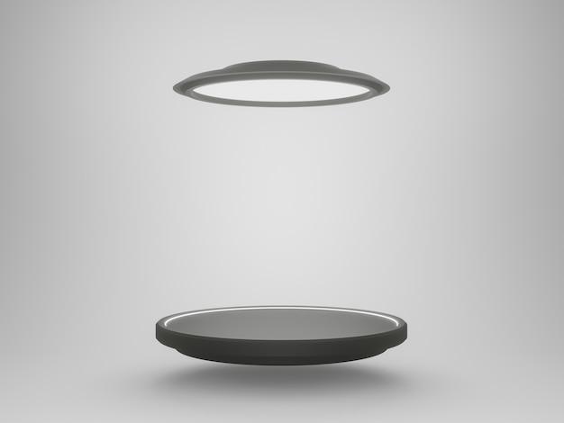 3d black and white futuristic stand