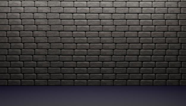 3d-блоки или стены 3d-рендеринг и иллюстрация