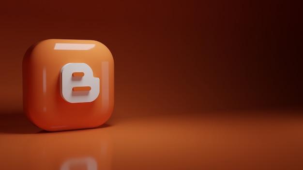 3d логотип приложения blogger