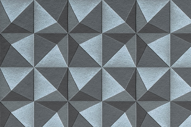 3d 파란색과 회색 종이 공예 오각형 무늬 배경