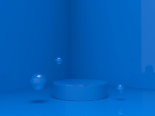 プロダクトプレースメントのための3dブルーの豪華な表彰台