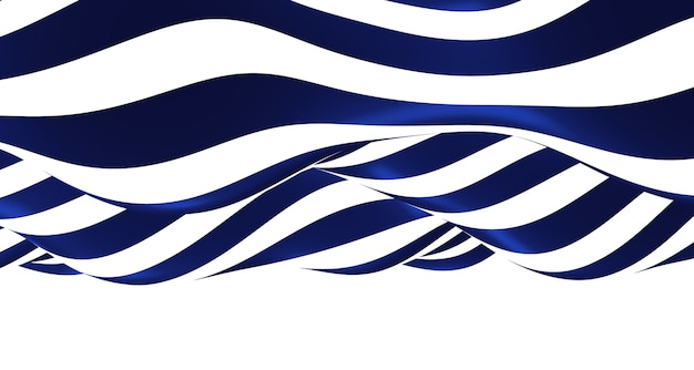 3d blue and white ripple illustration wave background graphics simple wavy moving like a river