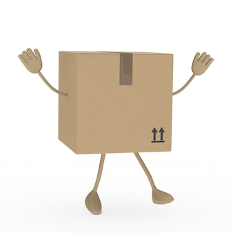 3d box jumping with arms up