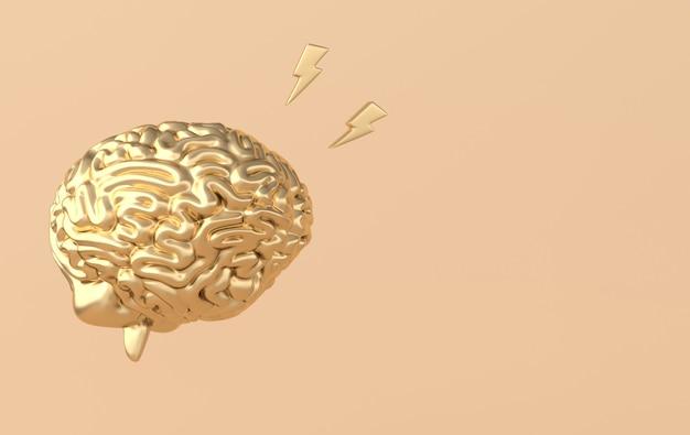 Глянцевая иллюстрация 3d мозга
