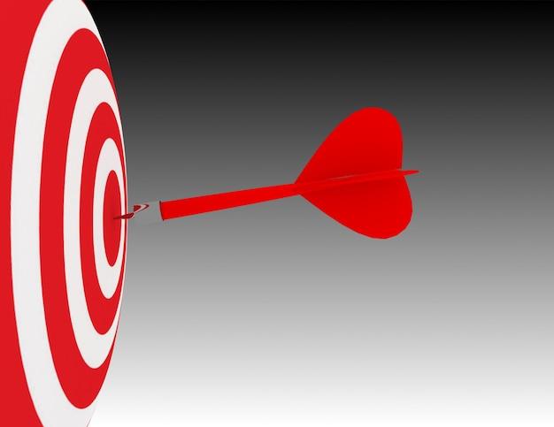 3d 비즈니스 목표 또는 목표입니다. 성공 개념
