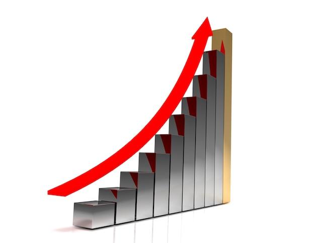 3d бизнес-график concepg