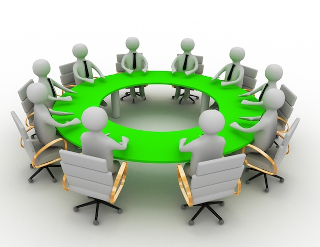 3d 비즈니스 회의