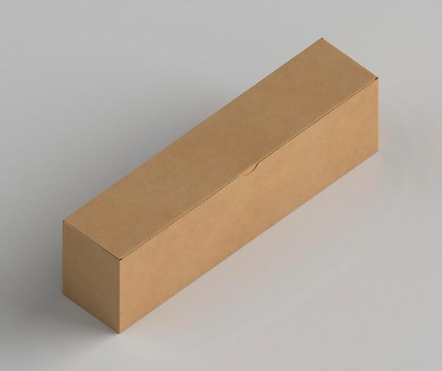 Картонная упаковка 3d под высоким углом