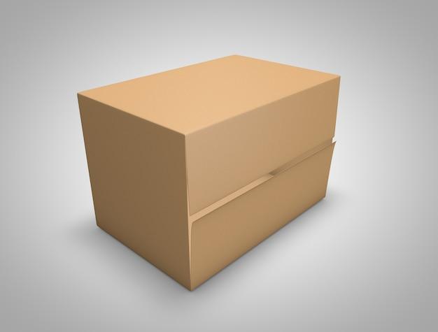 3d carton box mockup
