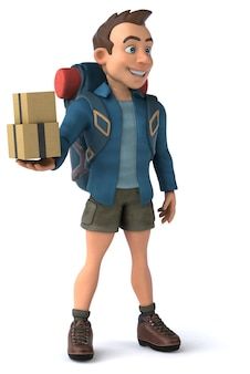3d персонаж мультфильма рюкзаком