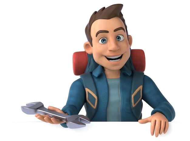 3d漫画のバックパッカーの男のキャラクター