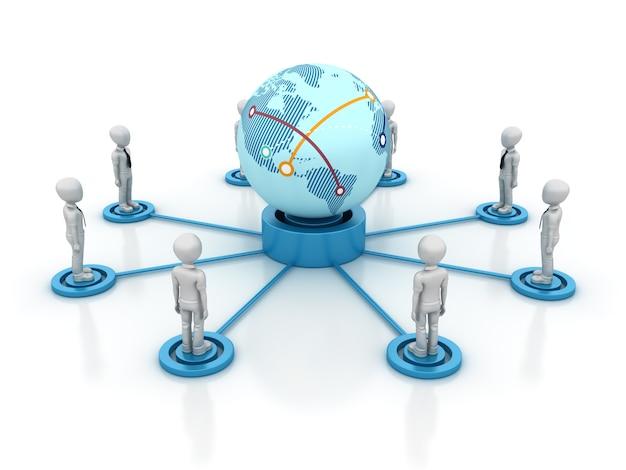 3d мультфильм бизнес совместная работа с globe world
