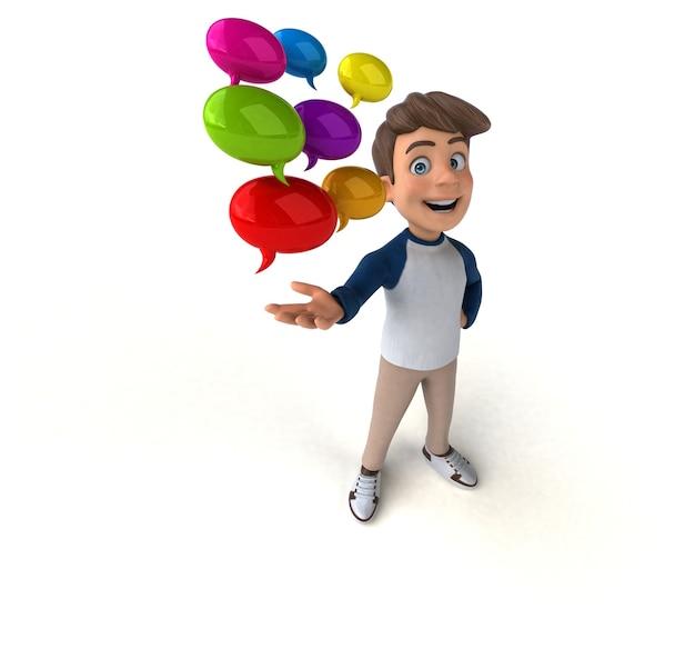 3d cartoon character funny teenager