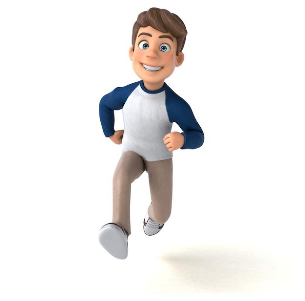 3d мультипликационный персонаж забавный подросток