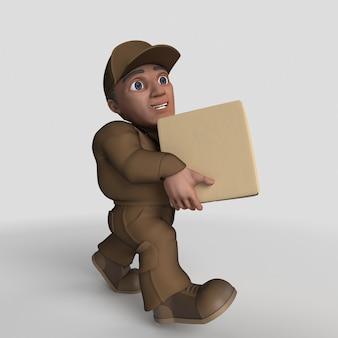 Driver di consegna dei cartoni animati 3d