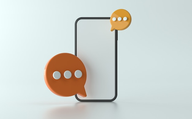 3d 채팅 아이콘 그림