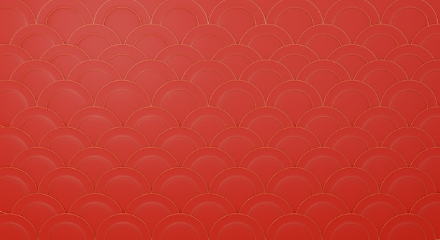 3d chinese pattern in red  design background template