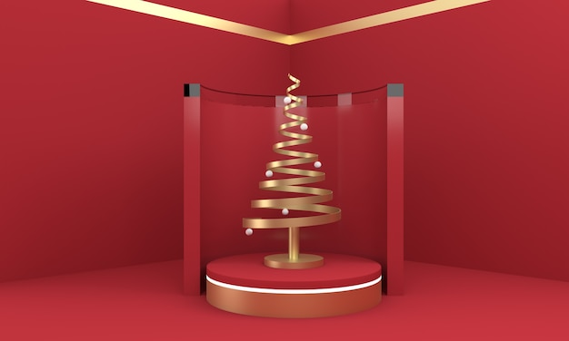 3d christmas postcard wallpaper . christmas  tree on a scenario