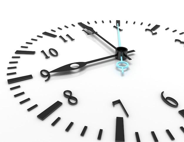 3d иллюстрации часов на белом фоне