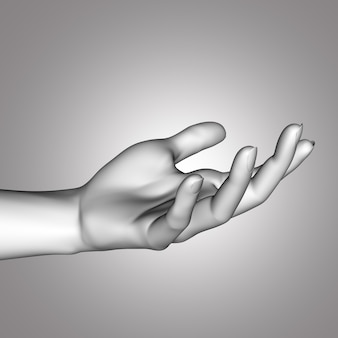 3d close up of a female hand