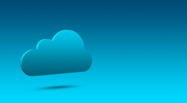 3d облако, значок облака