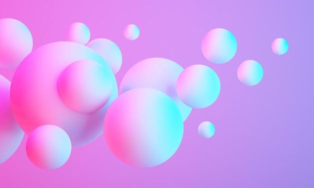 3d красочный шар сфера на фоне, абстрактный фон 3d